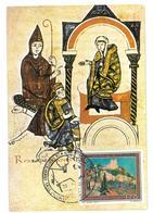 Pubblicità  IX Centenario Dell'incontro A Canossa Tra Gregorio VII Ed Enrico IV 28-01-1077  Miniatura Del Codice Vatican - Pubblicitari