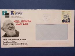 Timbre France YT 4435 - Fondation Abbé Pierre - Association Emmaüs - Sur Enveloppe - 09.02.10 - France