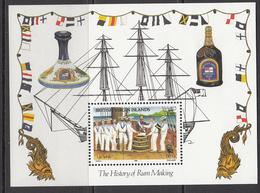 1986 British Virgin Islands History Of Rum Making Alcohol Ships Navy  Souvenir Sheet  MNH - Iles Vièrges Britanniques