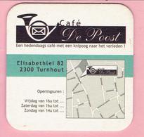Bierviltje - Café De Poost - Elisabethlei Turnhout - Taciro Broodjes En Snacks Boomgaardstraat - Sous-bocks