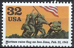 1995 Etats Unis USA United States MNH *** Military World War II Joe Rosenthal Photo Of Marines Raising Flag On Iwo Jima - WW2