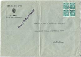 2001 - 5 Rp. Portofreiheit Krankenschwester, Glattes Kreidepapier Im Viererblock Auf Brief - Franchise