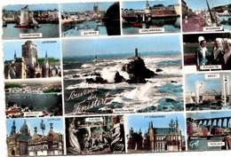 Souvenir Du Finistère Muti-vues (Guimiliau, Benodet,Locronan, Douarnenez,Pleyben, St Thégonnec, Morlaix, Brest Etc - Souvenir De...