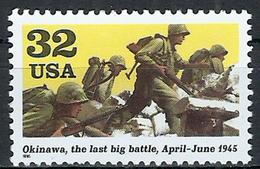 1995 Etats Unis USA United States MNH *** Military World War II Operation Iceberg Marines Advance Towards Okinawa Japan - WW2