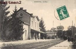 MORESTEL LA GARE TRAIN LOCOMOTIVE STATION BAHNHOF 38 ISERE - Morestel