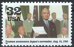 1995 Etats Unis USA United States MNH *** Military World War II President Harry Truman Announces The Surrender Of Japan - WW2