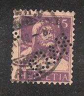 Perfin/perforé/lochung Switzerland No YT141/141a 1914 William Tell N&C°  Neuburger & Co St Gallen - Gezähnt (perforiert)