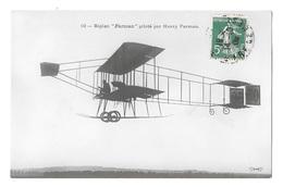 (23473-00) Biplan Farman Piloté Par Henry Farman - Avions