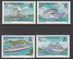 1986 British Virgin Islands Cruise Ships   Complete Set Of 4  MNH - British Virgin Islands