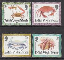1997 British Virgin Islands Island Crabs  Complete Set Of 4  MNH - British Virgin Islands