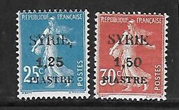 CD139  Syrie Surcharge De 1924 N°110 Et 112 N+ Surcharges Incomplètes - Neufs