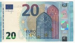"20 EURO  ""Italy""   DRAGHI    S 008 E2      SE5143040038  /  FDS - UNC - EURO"