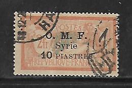 CD136  Syrie Surcharge O.M.F. De 1920-22 N°72 Obl - Syrië (1919-1945)