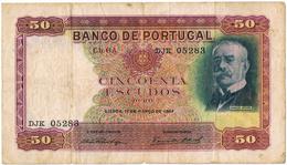 PORTUGAL - 50$00 (CINQUENTA ESCUDOS) CH.6 A- RAMALHO ORTIGÃO - Portugal
