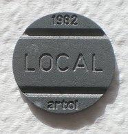 Brasil Telephone Token 1982 LOCAL  Artol  SISTEMA TELEBRAS Logo 20 - Monétaires / De Nécessité