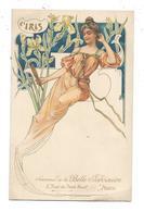 L'Iris - Style Mucha - La Belle Jardinière - Illustrateurs & Photographes