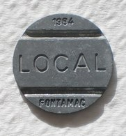 Brasil Telephone Token 1984 LOCAL FONTAMAC   Empty Square SISTEMA TELEBRAS Logo - Monétaires / De Nécessité