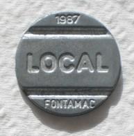Brasil Telephone Token 1987 LOCAL FONTAMAC  A   Inside Square SISTEMA TELEBRAS Logo - Monétaires / De Nécessité