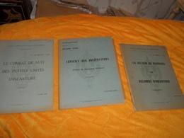 LOT DE 5 LIVRES ECOLE D'APPLICATION DE L'INFANTERIE AIDE MEMOIRE DE TRANSMISSIONS,LA CONTRE GUERILLA, LE COMBAT DE NUIT. - Livres