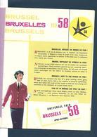 Belgique - Sabena - Revue De Bord Avec Carte Cigarettes Boissons Et Fiche D'évaluation - Expo 58 - 11 Pages - Magazines Inflight