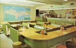 Ironwood Michigan, Totem Pole Restaurant Interior View, C1950s/60s Vintage Postcard - Etats-Unis