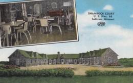 Sullivan Missouri, Shamrock Court Motel On Route 66, C1930s/40s Vintage Linen Postcard - Route '66'