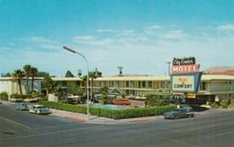 Las Vegas Nevada, City Center Motel, Autos Volkswagen Beetle, C1950s/60s Vintage Postcard - Las Vegas