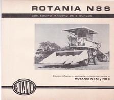 MANUAL TECNICO MAQUINARIA AGRICOLA N8S CON EQUIPO ARROCERO DE CUBIERTA PALA CIRCA 1955 - BLEUP - Other Plans