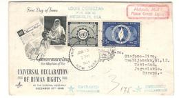 RARE - Esperanto - OUN Stamp - FDC+ Document - Esperanto