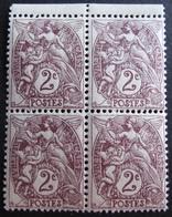 DF50478/340 - 1900 - TYPE BLANC - N°108 BLOC De 4 TIMBRES NEUFS**(2)/NEUFS*(2) BdF - 1900-29 Blanc