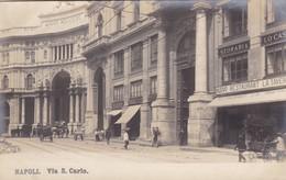 NAPOLI, VIA S.CARLO. NPG. CIRCA 1900 NON CIRCULEE - BLEUP - Napoli