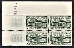 FRANCE 1952 - BLOC DE 4 TP / Y.T. N° 923 - NEUF** / COIN DE FEUILLE - Nuevos
