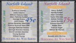 Norfolk Island ASC 715-716 2000 ANZAC Day, Mint Never Hinged - Norfolk Island