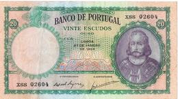 PORTUGAL -20$00 (VINTE ESCUDOS) CH 6 - D.ANTÓNIO LUIS DE MENEZES - Portugal
