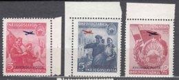 Yugoslavia Republic 1949 Airmail Mi#575-577 Mint Never Hinged - 1945-1992 Socialistische Federale Republiek Joegoslavië