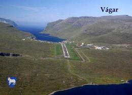 Faroe Islands Vagar Island Runway New Postcard - Cartes Postales
