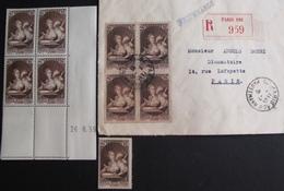 R1947/59 - 1939 - POUR LE MUSEE POSTAL - N°446 Seul NEUF** + N°446 BLOC TIMBRES NEUFS** CdF Daté + 1 ✉️ Avec BLOC ☉ - 1930-1939