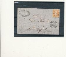 N°16 SUR LETTRE - 1853-1860 Napoleon III
