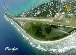 Tuvalu Funafuti Fongafale Runway Aerial View New Postcard - Tuvalu