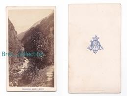 Allevard, Torrent Du Bout Du Monde, Photo Cdv, Circa 1870 - Lieux
