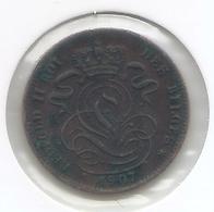 LEOPOLD II * 1 Cent 1907 Frans * Z.Fraai / Prachtig * Nr 5172 - 1865-1909: Leopold II