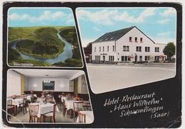 """1401/ SCHWEMLINGEN, Saarland. Hotel-Restaurant """"Haus Wilhelm"""". Sent To Dunkerke / Voyagée à Dunkerque (1986). - Otros"""