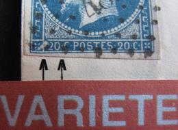 R1917/47 - NAPOLEON III N°14A  (devant De ✉️)  PC 481 : BOURGES - VARIETE ➤➤➤ Taches Blanches / Coin Sud/ouest Du Timbre - 1853-1860 Napoleon III