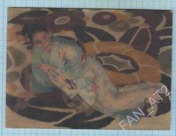 Japan / Post Card / Nude. Erotic . Girl. Stereo Photo 3D 1970s - Estereoscópicas