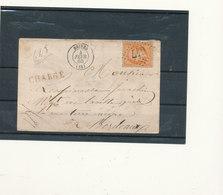 N°23 SUR LETTRE CHARGEE - 1862 Napoléon III
