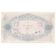 500 FRANCS BLEU ET ROSE 11 Janvier 1940 - 1871-1952 Anciens Francs Circulés Au XXème