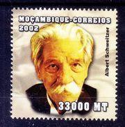 Mozambique 2002 MNH, Albert Schweitzer, Nobel Peace, Medicine, Doctor, Medical Missionary - Albert Einstein