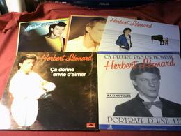 HERBERT LEONARD   °°  COLLECTION DE 5 VINYLES  4 /  33 TOURS  + 1 MAXIS - Vollständige Sammlungen