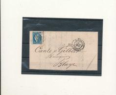 N°45 BORDEAUX SUR LETTRE NUANCE ET OBLITERATION - 1870 Bordeaux Printing