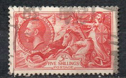 GB 1934: 5 S Sea-horses, Used; Perforation Of The Top Row Not Perfect; S.G. Spec. N74 / Michel No. 187      O - 1902-1951 (Rois)